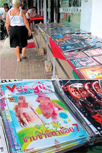 Bancarelle pedopornografico a Pattaya