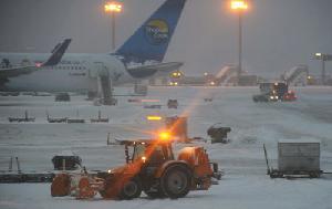 aeroporto germania con neve