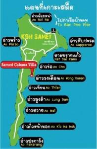 Mappa Koh Samet - Thailandia