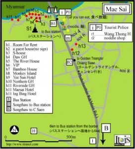 Mappa Mae Sai - Thailandia