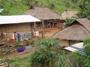 villaggio di montagna in thailandia