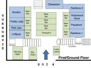 Mappa Nana Plaza Bangkok: Lista migliori go go bar  con ragazze thai - ladyboy