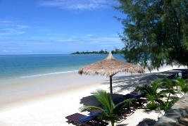 Spiaggia e mare in Cambogia a Sihanoukville