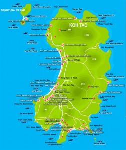 Mappa-cartina-Koh Tao-Thailandia