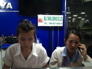 Banco biglietti auto-bus aeroporto Bangkok Pattaya