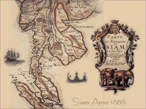 Antica mappa dell'impero Thai