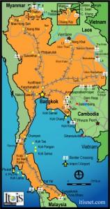 Cartina località della Thailandia