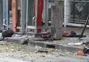 Thailandia 14 febbraio 2012: vittima e carnefice delle bombe a Bangkok
