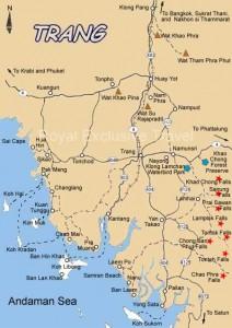 Cartina isole Trang Thailandia meridionale