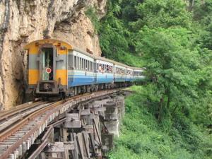 Treno Kanchanaburi la ferrovia della morte