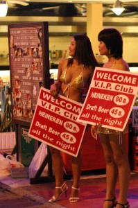 Ragazze go-go bar walking street Pattaya