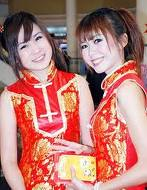 Ragazze Capodanno cinese Pattaya