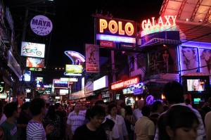 Vita notturna Walking Street sud Pattaya- Thailandia