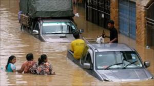 Marzo 2011: pioggia e acqua alta in Thailandia