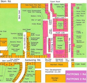 mappa locali notturni patpong bangkok