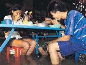 acqua alta Thailandia - ottobre 2011