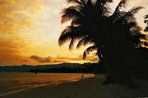 Thailandia - Ko Samui: tramonto sulla spiaggia di Chaweng