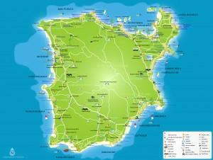 Mappa, cartina isola di Koh-Samui - Thailandia