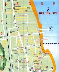 Cartina Hua Hin