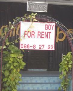 """Pubblicita' in Thailandia, """"ragazzo in affitto"""""""