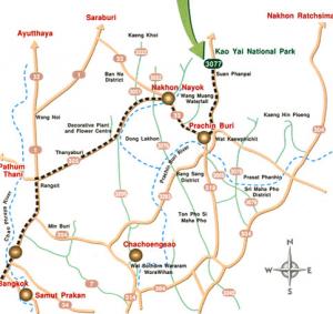 cartina Khao Yai