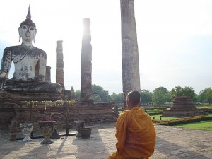 Thailandia del nord: statua del Buddha a Sukhothai
