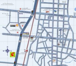 Cartina di khon kaen - Thailandia