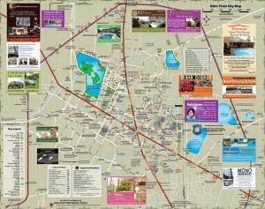 Cartina con strade e vie di Udon Thani - Nordest  Thailandia