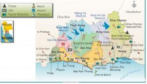 Cartina provincia Rayong - Thailandia