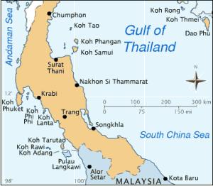 Cartina provincia Nakhon Si Thammarat