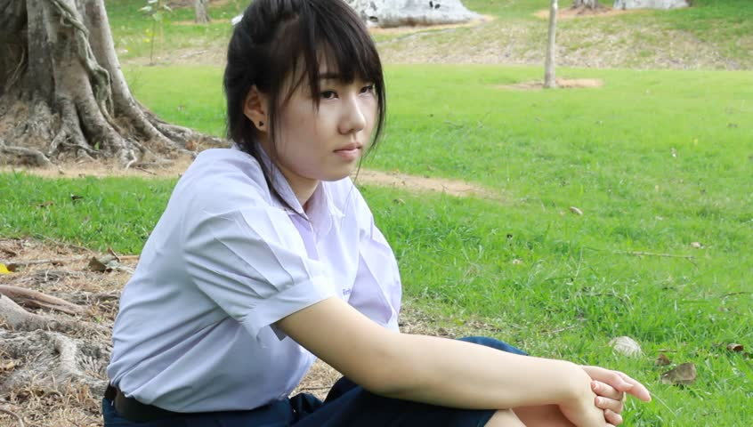ragazza thailandese infelice
