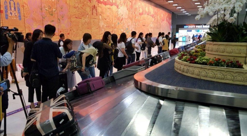 Arrivo bagagli  Bkk Thailandia