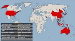mappa paesi a rischio virus cinese