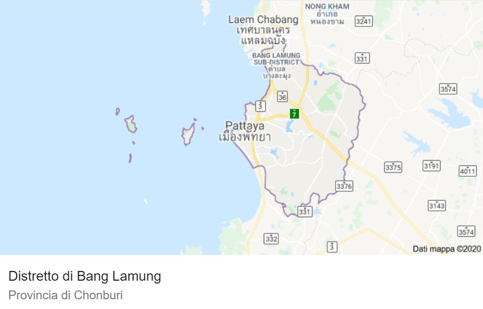 mappa distretto di Bang Lamung