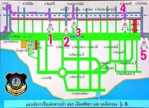 cartina blocchi pattaya covid-19